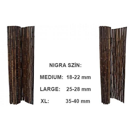 MEDIUM Nigra bambuszrúd tekercs, 180 x 180 cm, D.18-22 mm