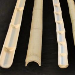 Felezett MOSO bambuszrúd, 2450 x 65 x 75 mm
