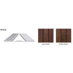 X-treme bambusz teraszlap (thermokezelt) 1850*137*20 mm, sima/bordás oldallal, nútolt éllel, olajozott