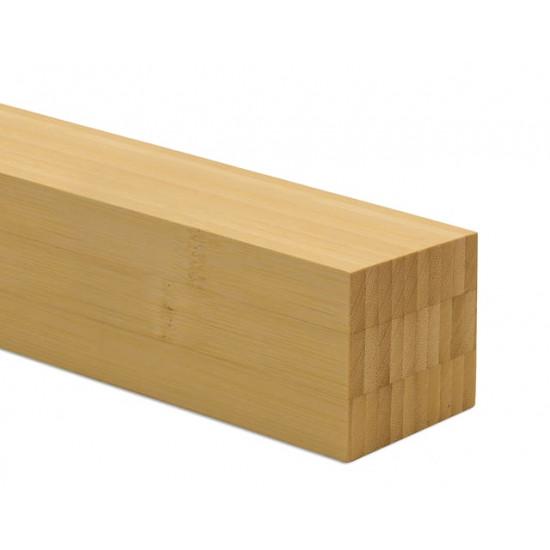 Bambusz gerenda: vertikális minta, natúr szín,  2440*55*55 mm