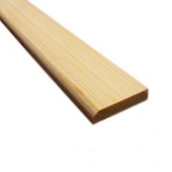 Bambusz szegőléc, horizont minta natúr, kezeletlen, 2000 x 25 x 5 mm