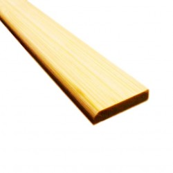 Bambusz szegőléc, horizont minta natúr, lakkozott, 2000 x 25 x 5 mm