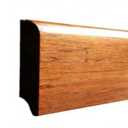 Bambusz szegőléc, fonott minta kávébarna, lakkozott, 1830 x 68 x 15 mm