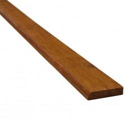 Bambusz szegőléc, fonott minta kávébarna, lakkozott, 1830 x 25 x 5 mm