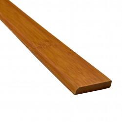 Bambusz szegőléc, horizont minta kávébarna, lakkozott, 2000 x 25 x 5 mm