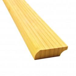Bambusz szegőléc, vertikális minta natúr szín, lakkozott, 2000 x 50 x 15 mm