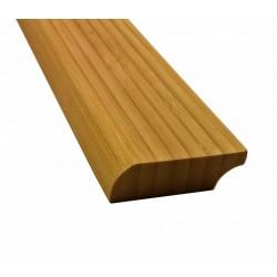 Bambusz szegőléc, vertikális minta kávébarna, lakkozott, 2000 x 50 x 15 mm