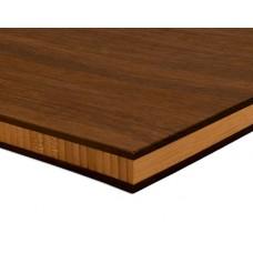 Bambusz panel: fonott minta, csoki szín (thermokezelt), 3-rétegű 2440*1220*20 mm