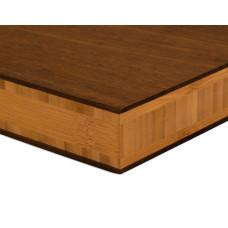 Bambusz panel: fonott minta, csoki szín (thermokezelt), 5-rétegű 2440*1220*38 mm - KIFUTÓ