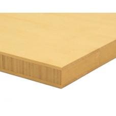 Bambusz panel: horizontális minta, natúr szín, 3-rétegű 2440*1220*25 mm
