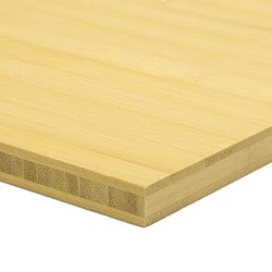Bambusz panel: horizontális minta, natúr szín, 3-rétegű 2440*1220*16 mm