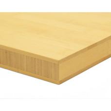 Bambusz panel: horizontális minta, natúr szín, 3-rétegű 2440*1220*30 mm