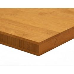 Bamboo-Classic munkalap: horizontális minta, kávébarna (gőzölt) szín, 3-rétegű 2440*600*25 mm