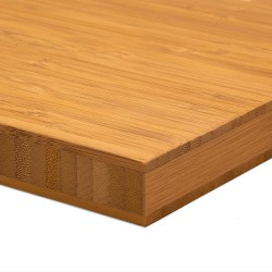 Bamboo-Classic munkalap: vertikális minta, kávébarna (gőzölt) szín, 3-rétegű 2440*600*25 mm