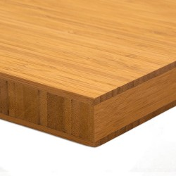 Bamboo-Classic munkalap: vertikális minta, kávébarna (gőzölt) szín, 3-rétegű 2440*600*30 mm