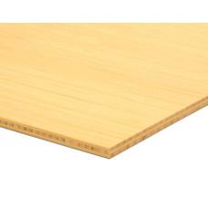 Bambusz vékonypanel: vertikális minta, natúr szín, 3-rétegű 2440*1220*7 mm