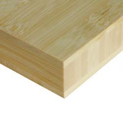 Bamboo-Classic munkalap: horizontális minta, natúr szín, 3-rétegű 2440*600*25 mm