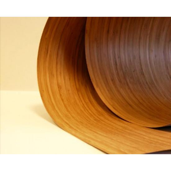 Bambusz furnér: vertikális minta, kávébarna (gőzölt) szín, 2500*1250*0,6 mm, FSC