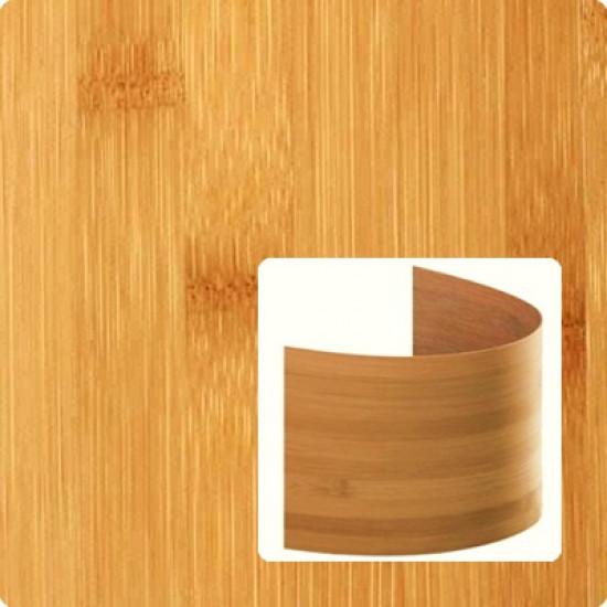 Bambusz furnér: horizontális minta, kávébarna (gőzölt) szín, 2500*430*0,6 mm