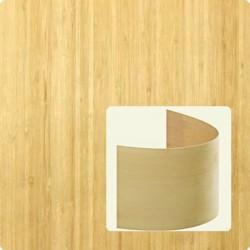 Bambusz furnér: vertikális minta, natúr szín, 2500*1250*0,6 mm