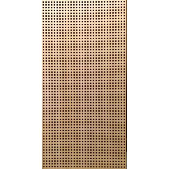 QUADRO 10-20 bambusz furnéros perforált lemez, natúr, 1240 x 600 x 4 mm - egy oldalon furnérozott