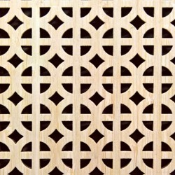 ROMANICO bambusz furnéros perforált lemez, natúr, 1240 x 600 x 4 mm - egy oldalon furnérozott