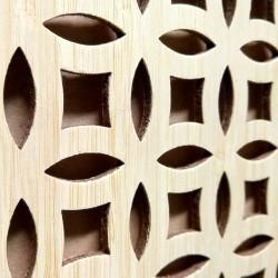SUSANNA bambusz furnéros perforált lemez, natúr, 1240 x 600 x 4 mm - egy oldalon furnérozott