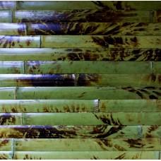 Flexbamboo PANDA Forest zöld- 120 cm széles, 25*3 mm-es lamellák, kávébarna szín