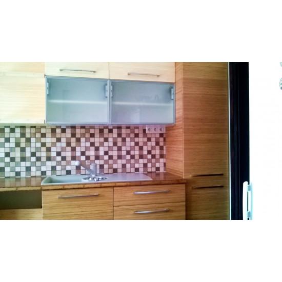 Bambusz panel: vertikális minta, kávébarna (gőzölt) szín, 1-rétegű 2440*605*19 mm
