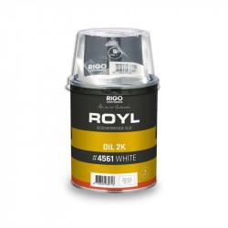 ROYL 2K #4561 kétkomponensű beltéri vízálló olaj, 1 liter - FEHÉR