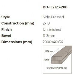 N-Finity impregnált kültéri bambusz léc 2000*40*36 mm