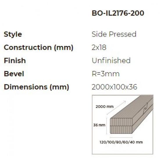 N-Finity impregnált kültéri bambusz léc 2000*100*36 mm