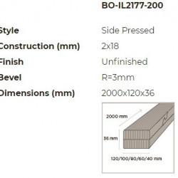 N-Finity impregnált kültéri bambusz léc 2000*120*36 mm
