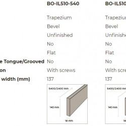 N-Finity impregnált kültéri bambusz falburkolati elem, TRAPÉZ, 5400*140*18 mm