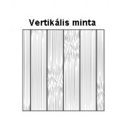 Bambusz szegőléc, vertikális minta natúr szín, matt fehér lakkal kezelt, 2000 x 50 x 15 mm