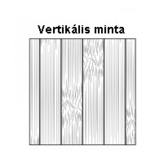 Bambusz szegőléc, vertikális minta kávébarna szín, fehérített lakkal kezelt, 1900 x 50 x 15 mm