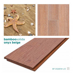 SOLIDA ONYX Click-es bambusz hajópadló, dombornyomott minta, lakkozott, 1830*135*14 mm/szál - 6 db-os doboz (1,482 m2)