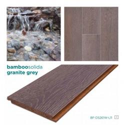 SOLIDA GRÁNIT Click-es bambusz hajópadló, dombornyomott minta, lakkozott, 1830*135*14 mm/szál - 6 db-os doboz (1,482 m2)