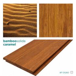 SOLIDA CARAMEL Click-es bambusz hajópadló, fonott minta, lakkozott, 1850*137*14 mm/szál - 6 db-os doboz (1,521 m2)